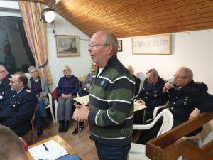 BV-Vorsitzender Karl-Heinz Ockenga lobt für die Dorfgemeinschaft die gute Zusammenarbeit