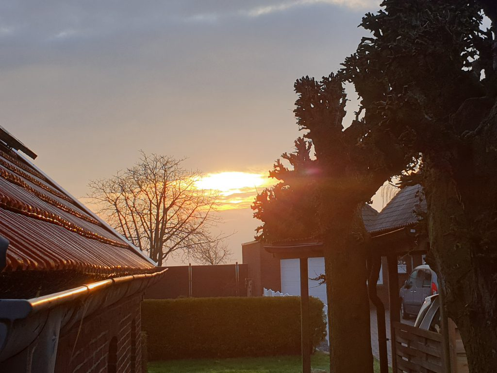 so ging gestern die Sonne auf