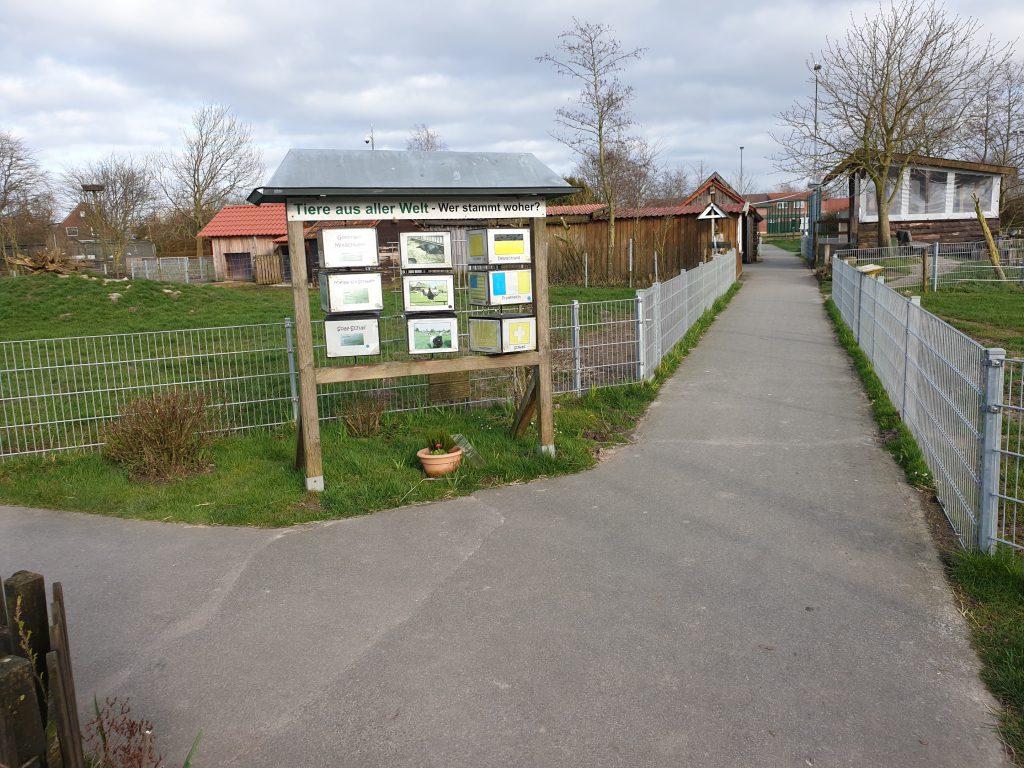 die Wege im Haustierpark sind seit heute verwaist