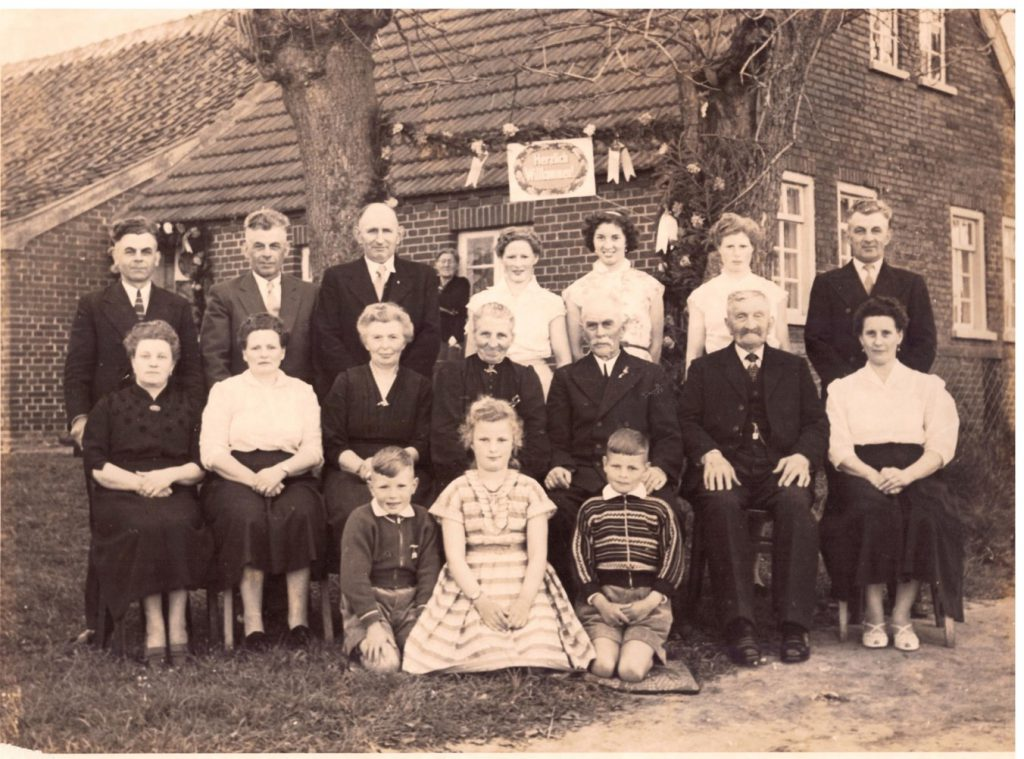 Familienfoto der Familie Johann Heinrich Janssen 1957