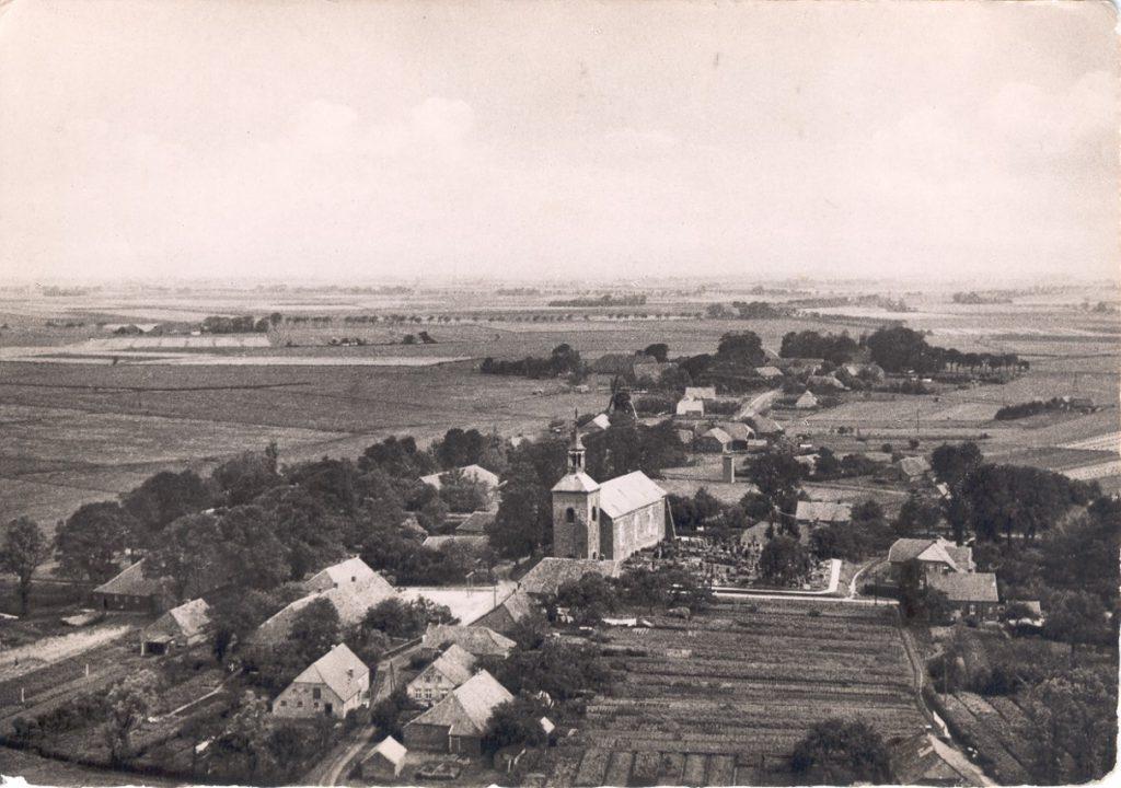 Luftbild von Werdum 1955