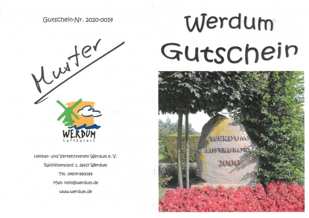 """Der """"Werdum-Gutschein"""" ist in der Tourist-Information erhältlich"""