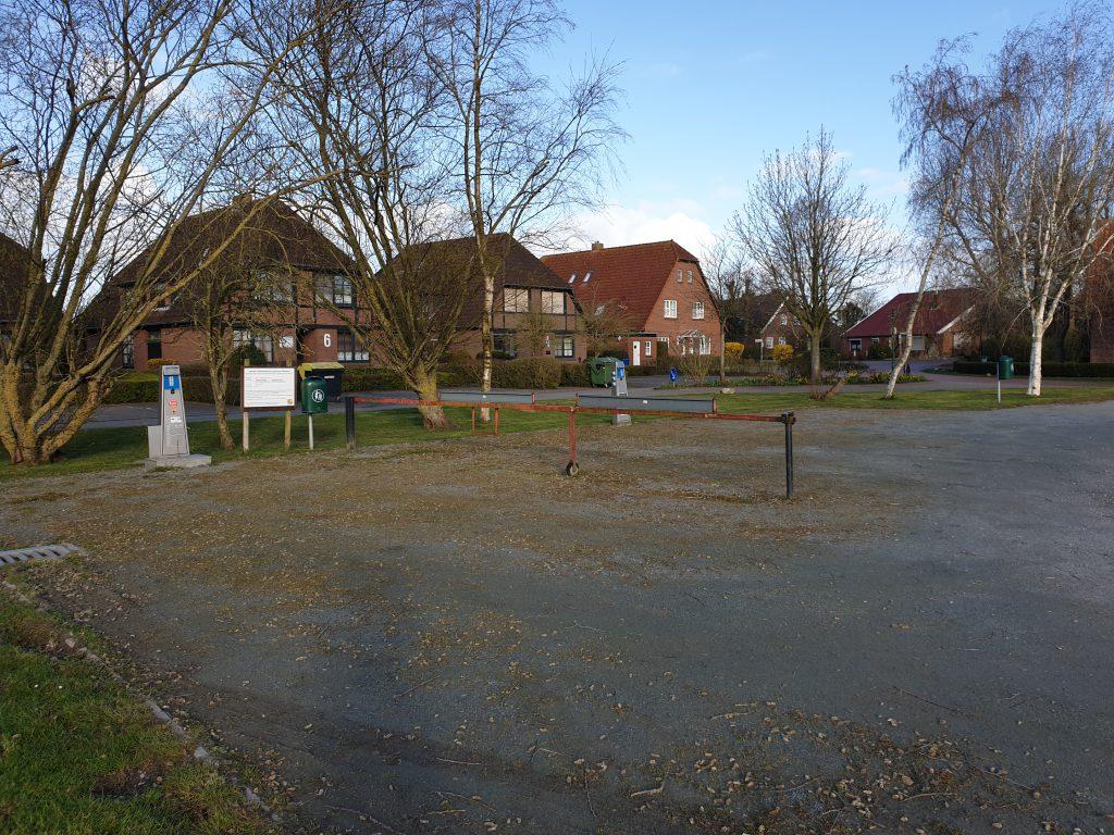 Auch auf dem Wohnmobilstellplatz in Werdum darf über Ostern kein Fahrzeug geparkt werden