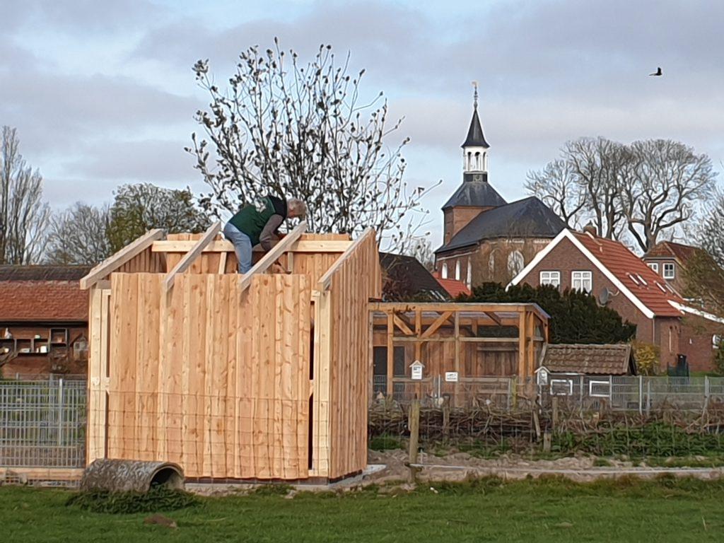 Baustelle mit Blick auf St.Nicolai