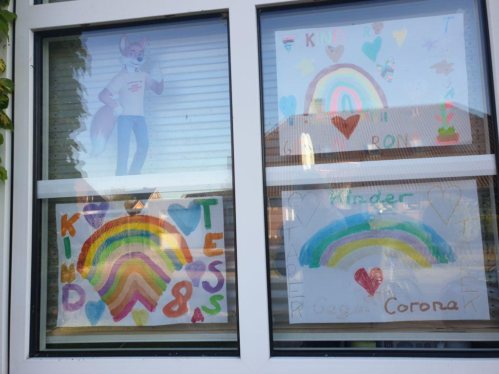Kinder malen gegen Corona und danken den Helfern
