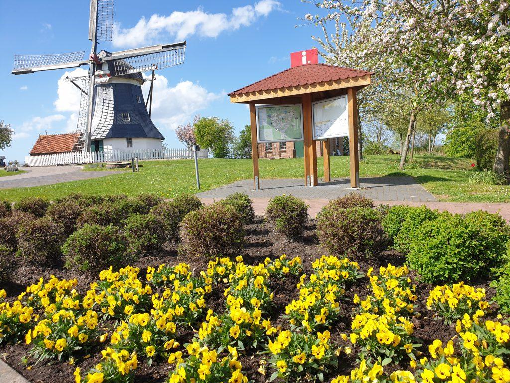 malerisches Bild an der Mühle