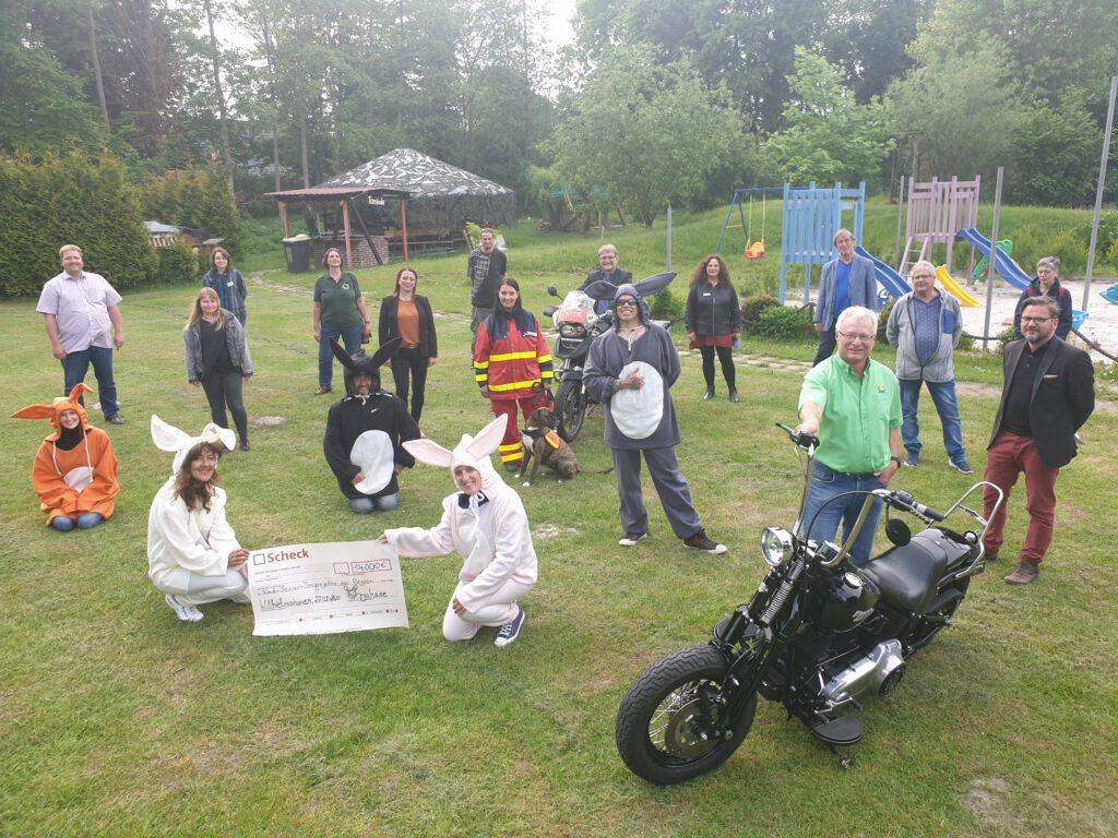 Spender und Begünstigte im Abenteuerspielplatz in Voslapp
