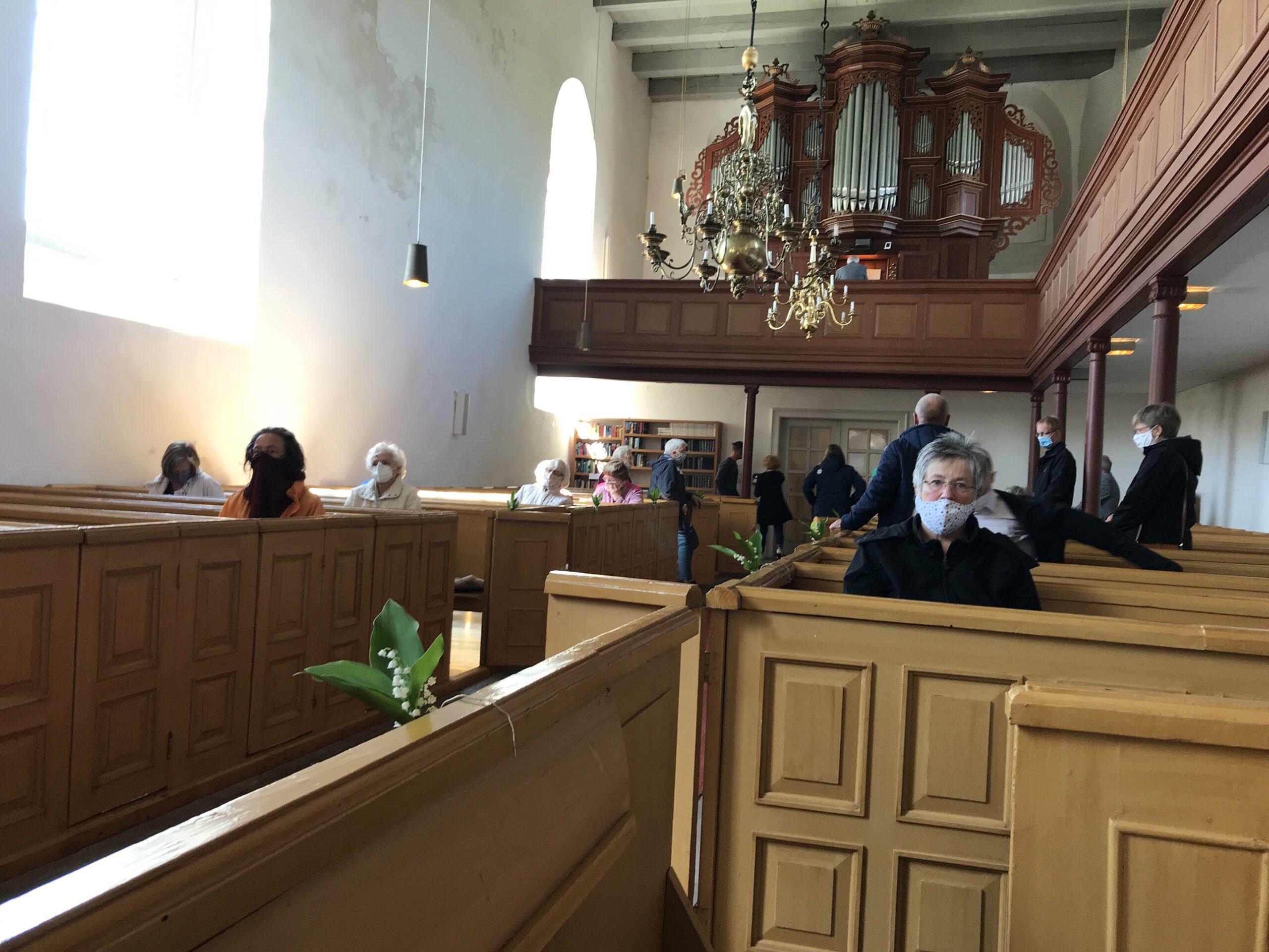 Gottesdienst mit Maske - eine Premiere in der St. Nicolai-Kirche