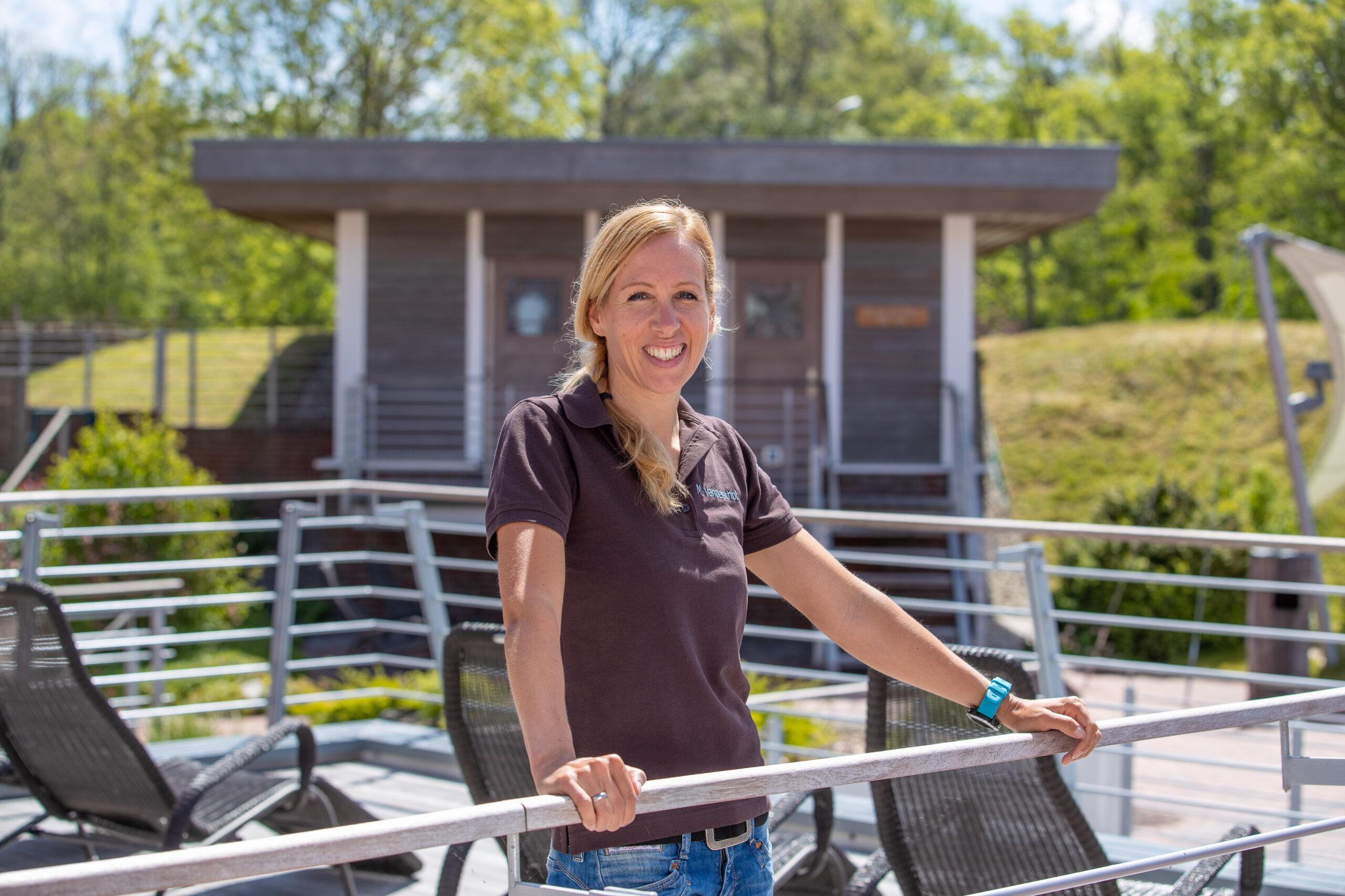 """Melanie Vanderschot hat alle Vorbereitungen für einen gefahrlosen Aufenthalt im """"Badewerk"""" getroffen"""