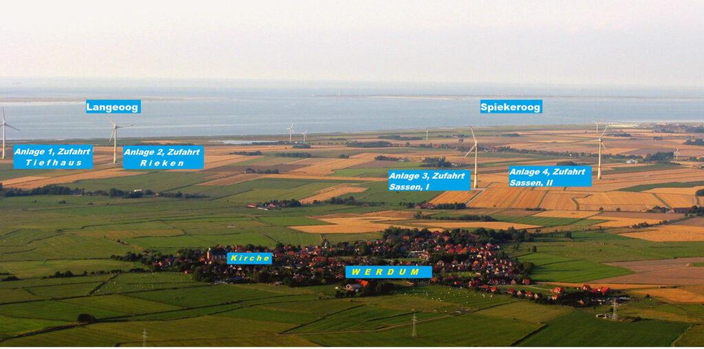 Der Windpark Werdum / Neuharlingersiel