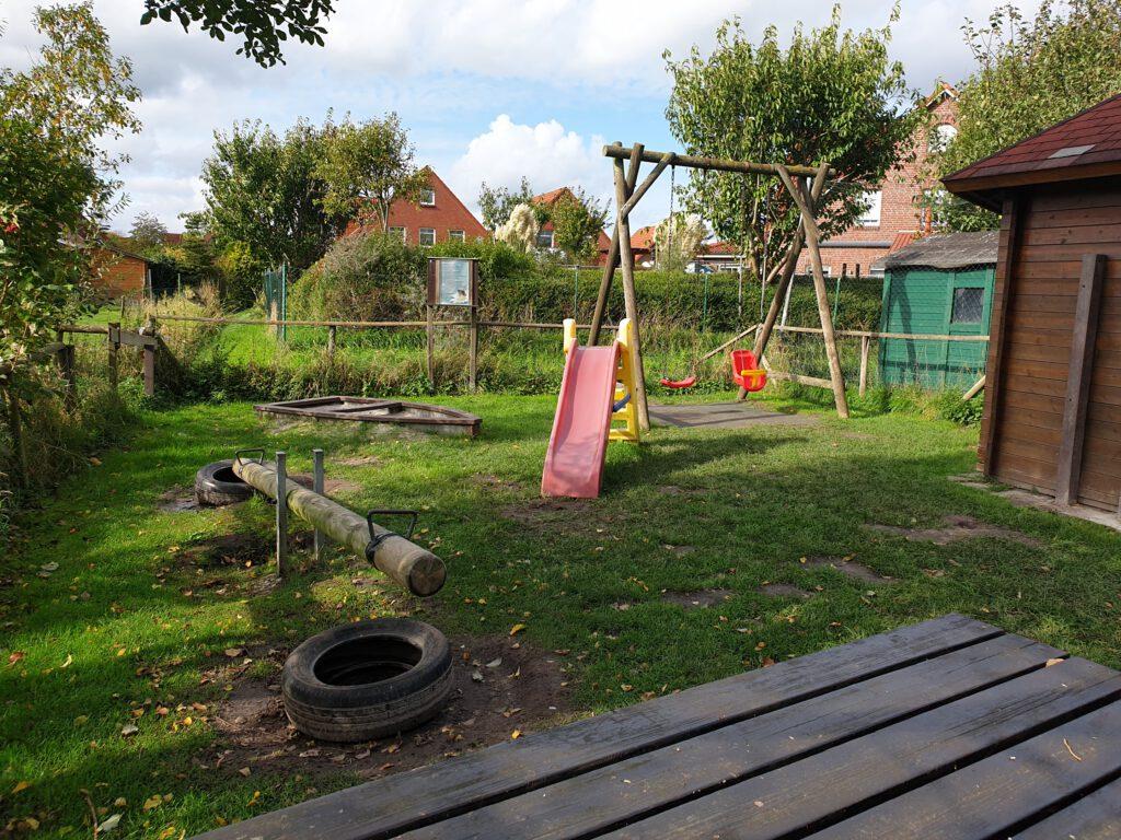 Der kleine Spielplatz wird neu beplant und bekommt auch eine neue Schaukel und ein richtige Rutschbahn