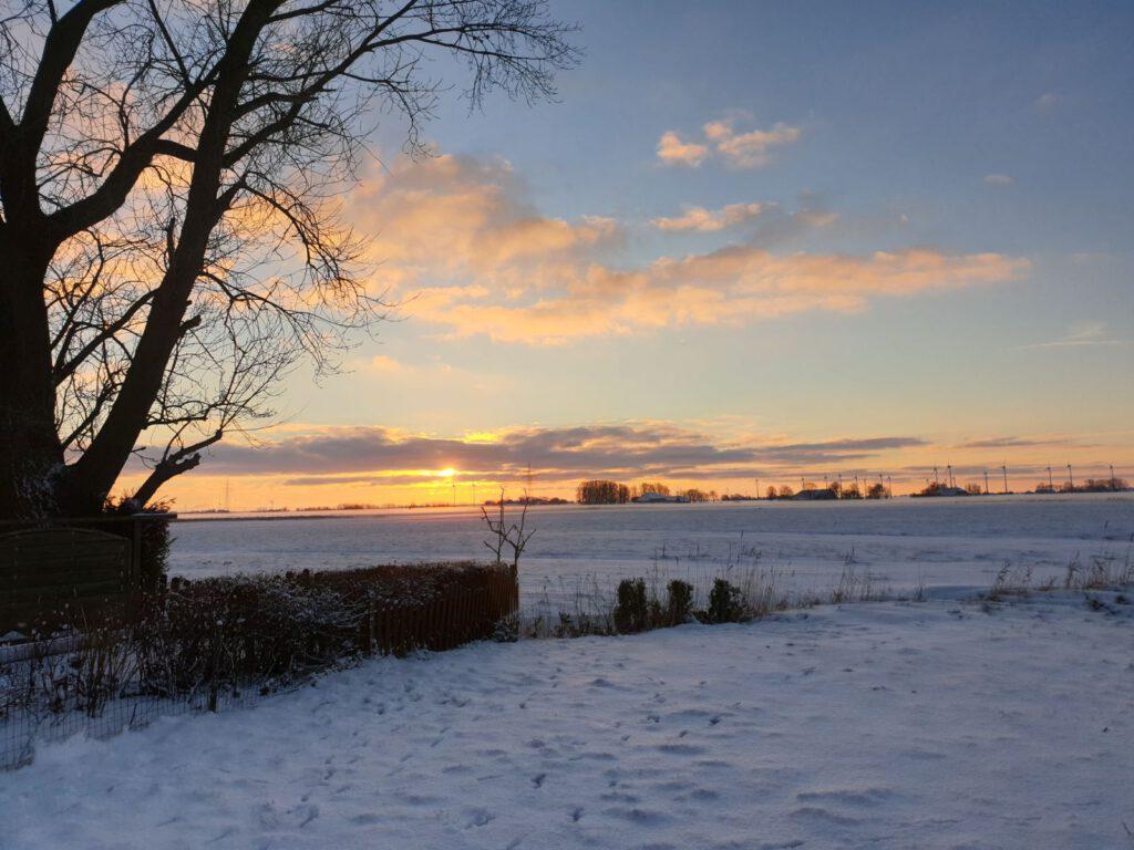 Sonnenaufgang am 30. Januar 2021