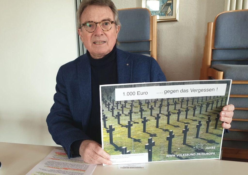 Heiner E. Groenhagen spendet 1000 € gegen das Vergessen