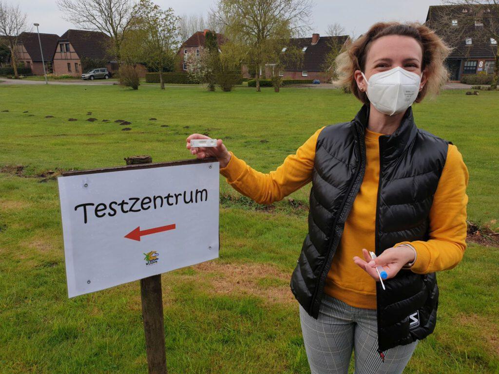 Katrin Sandmann wird ab dem 03. Mai Antigen-Schnelltests in Werdum vornehmen