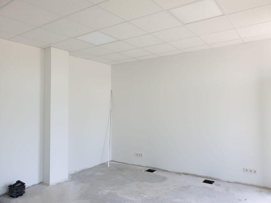Das neue Büro von Jens Gronert ist bis auf den Fußboden bezugsfertig