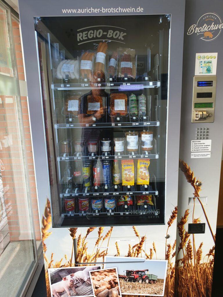 Der Automat ist voll gefüllt und wartet jetzt auf Käufer