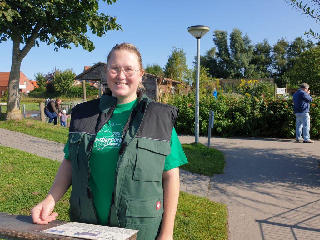 Kristin Bienert ist neu im Team des Haustierparks