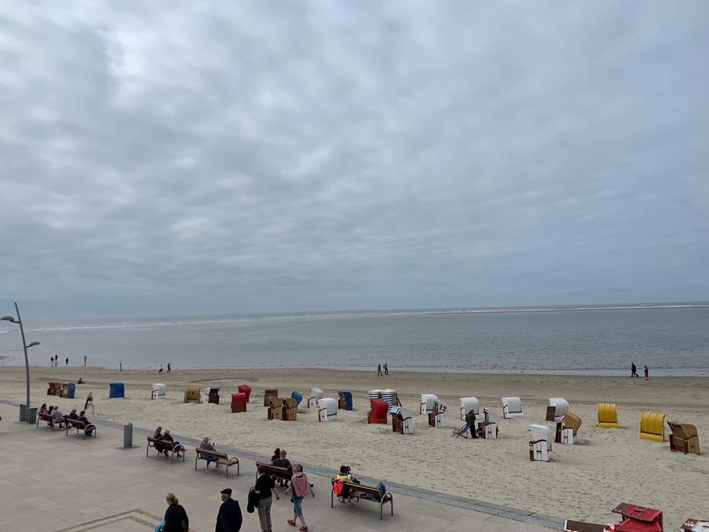 Der Strand mit Promenade auf Borkum